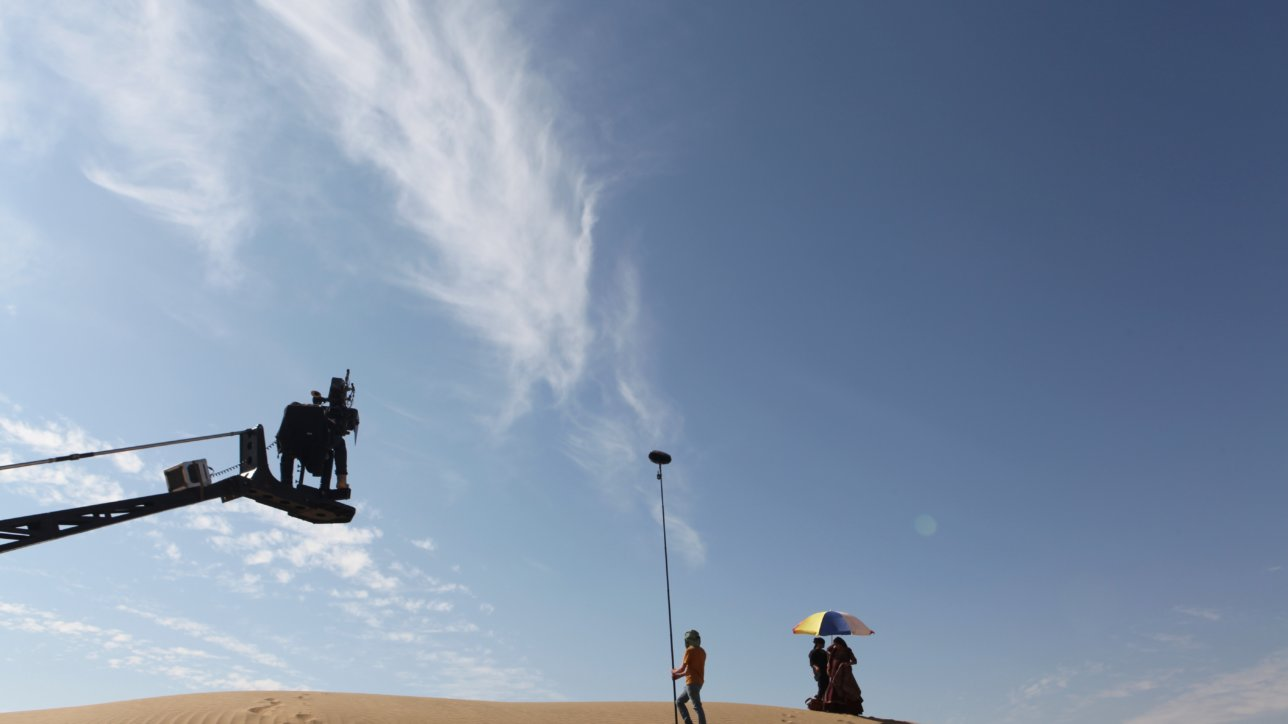 On the set of The Song of Scorpions